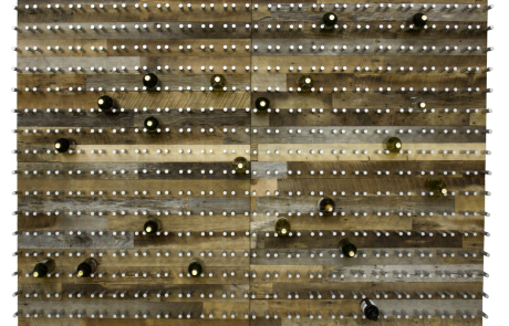 Aluminum Bottle Supports & Reclaimed Wood